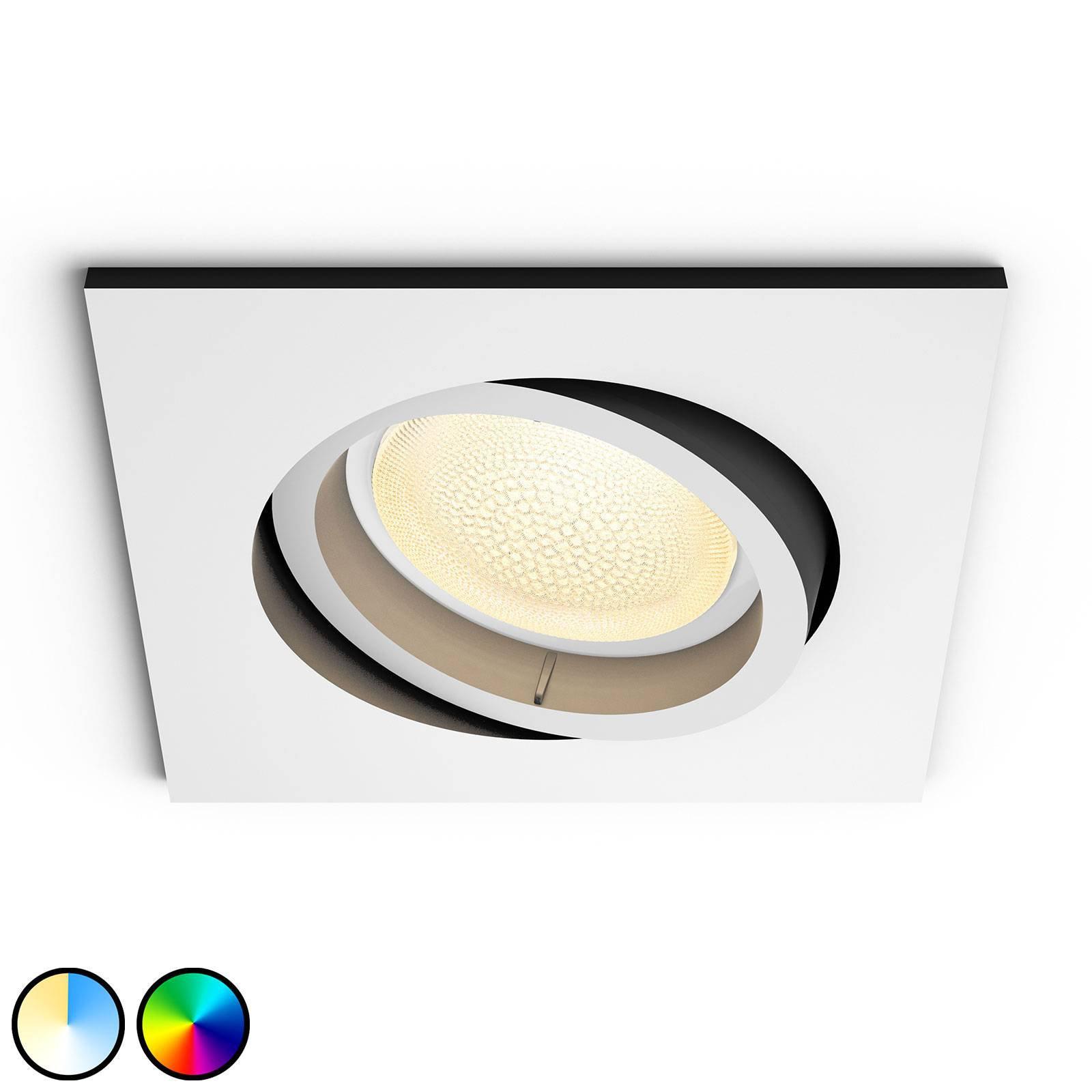 Philips Hue Centura LED-downlight kantet, hvit