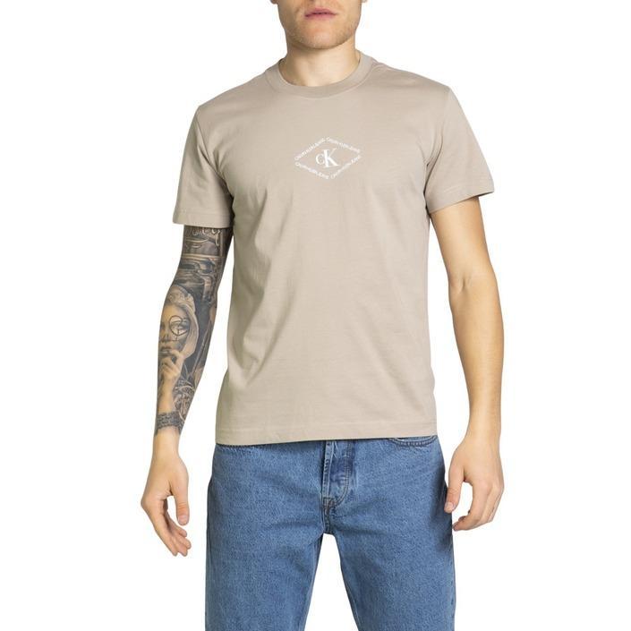 Calvin Klein Jeans Men's T-Shirt Beige 212950 - beige M