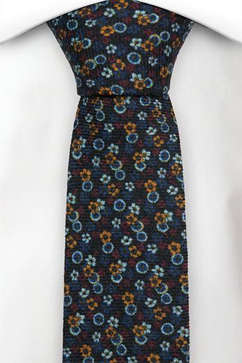 Ull Smale Slips, Små blå, gule og røde blomster, Blå, Små blomster