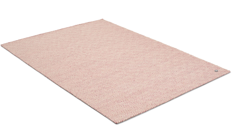 Orissa rosa - håndvevd ullteppe