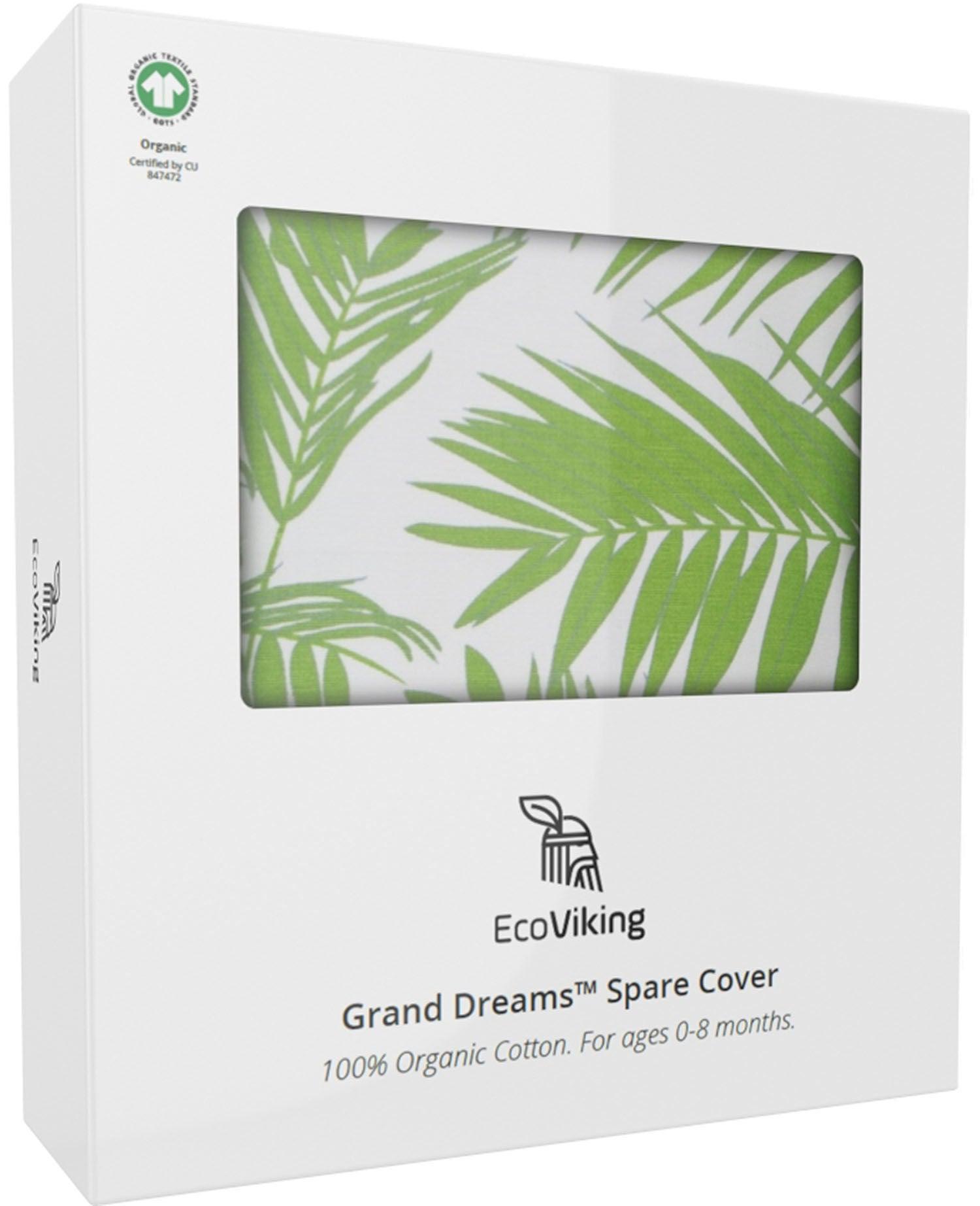 EcoViking Organic Babynest Cover Natural Green