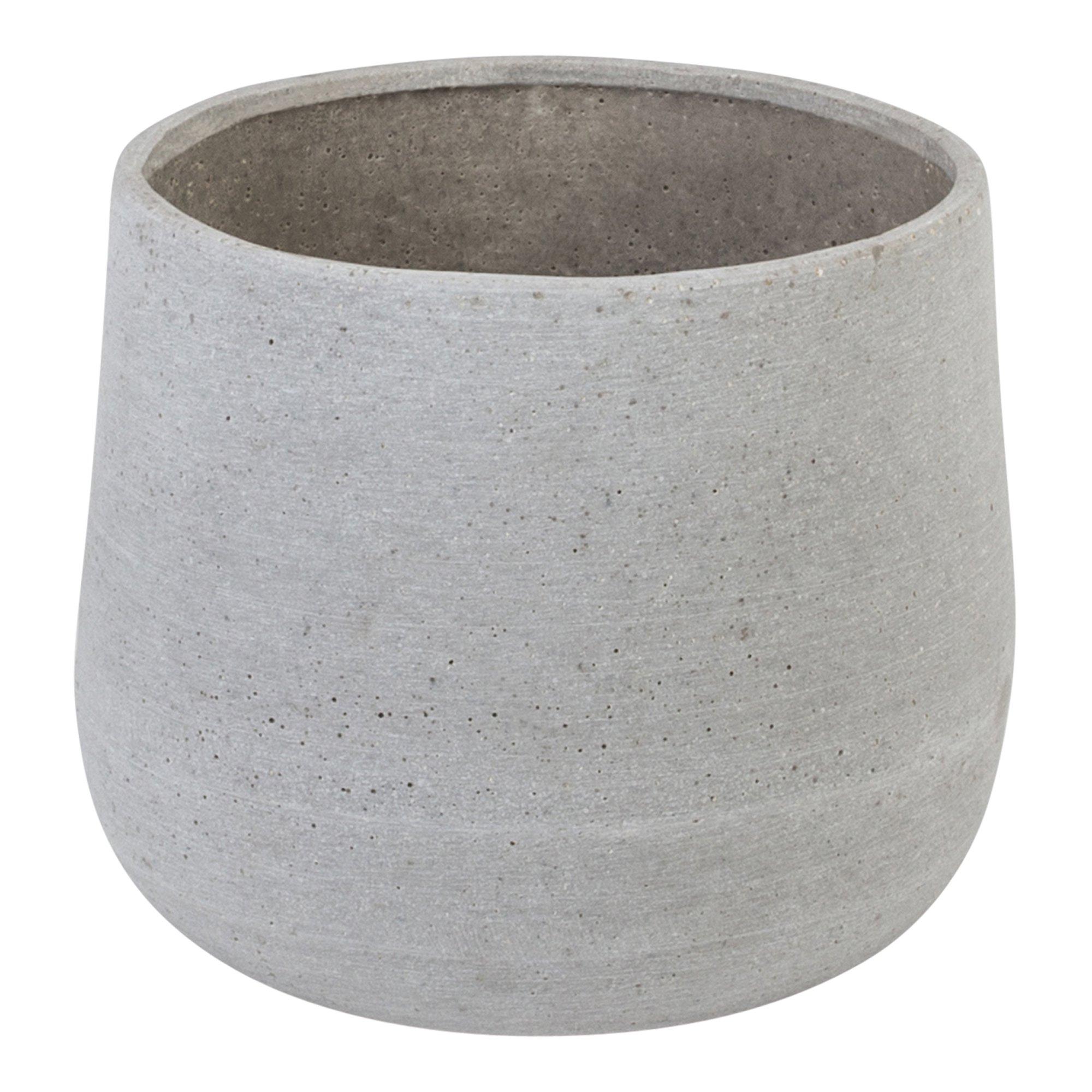 Potte Brede stor grå