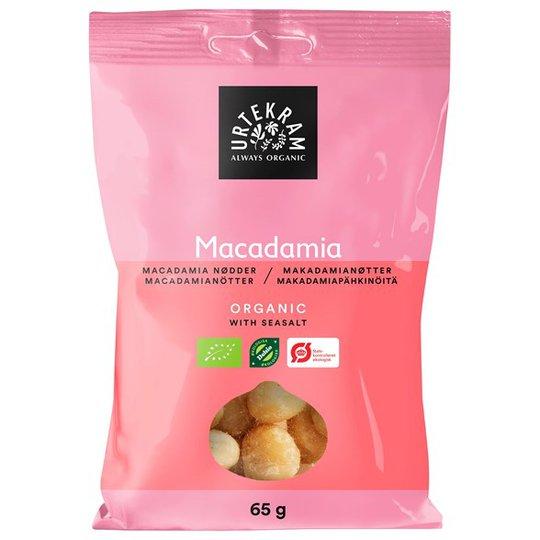 Urtekram Food Macadamianötter med Havssalt, 65 g