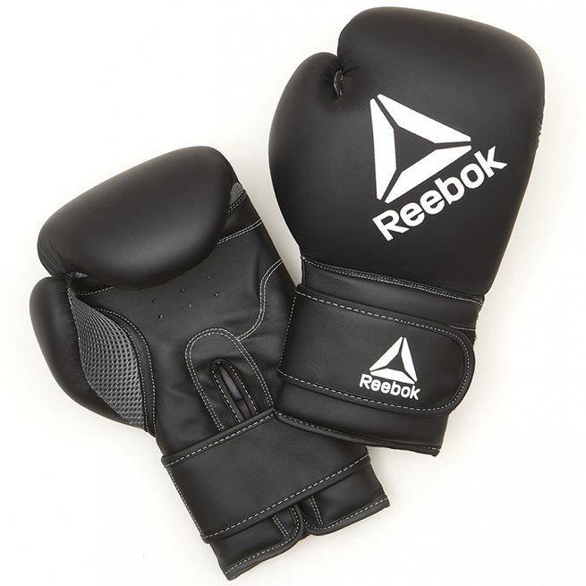 Reebok Retail 16 Oz Boxing Gloves - Black/White, Boxnings- & Thaihandskar