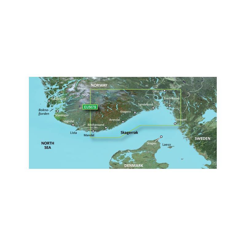 Garmin BlueChart® G3 Vision VEU507S-Oslo-Mandal-Smogen