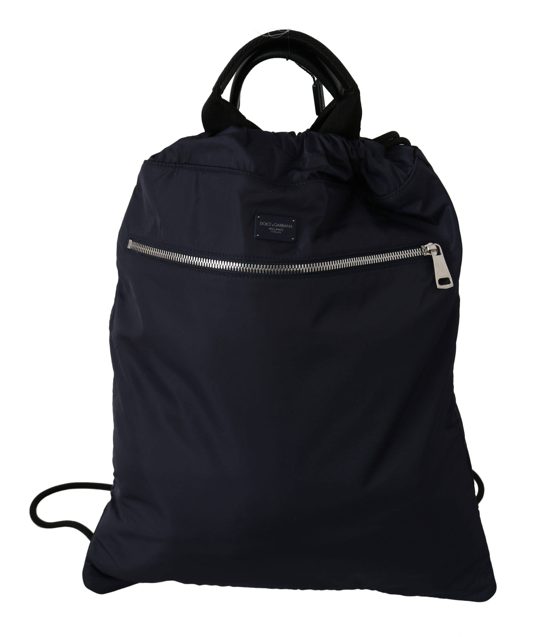 Dolce & Gabbana Men's Nylon Nap Sack Drawstring Backpack Black VAS8750