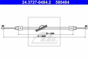 Vaijeri, käsijarru, Edessä, MERCEDES-BENZ CLS [C218], CLS Shooting Brake [X218], E-KLASS [W212], E-KLASS T-Model [S212], 212 420 07 85,