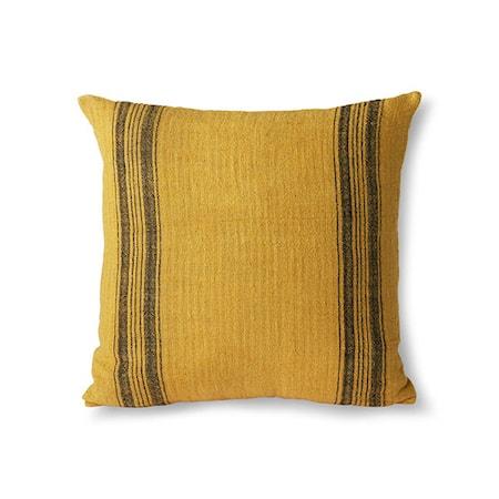 Linen Cushion Mustard 45x45 cm