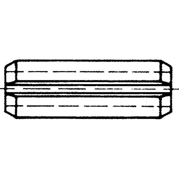 Arvid Nilsson 89520040 Rørpinne 20 mm DIN 1481 (ISO 8752) 20 x 40 mm, 25-pakning