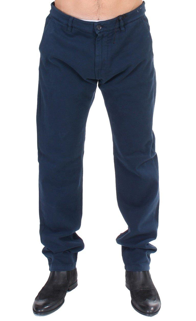 GF Ferre Men's Stretch Straight Fit Pants Trouser Blue SIG11098 - IT50 | L