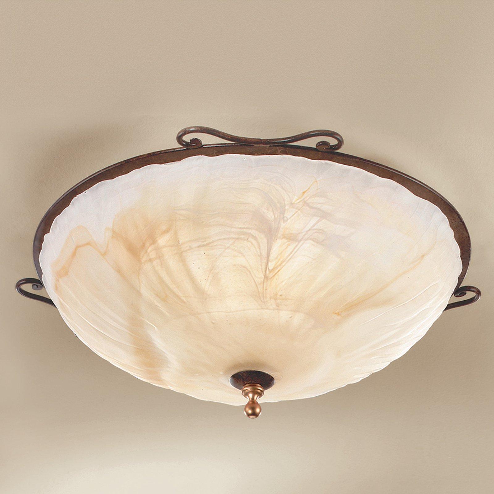 Taklampen Armelle - med antikk stil