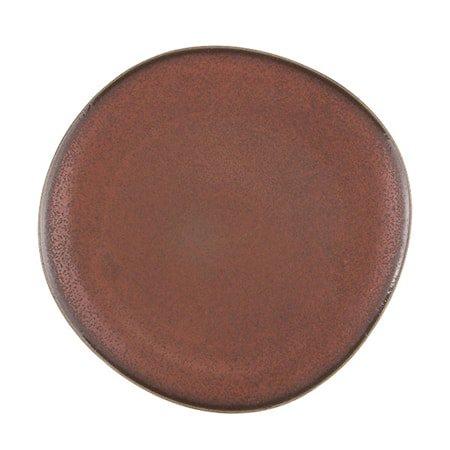 Keramikk Tallerken Brun