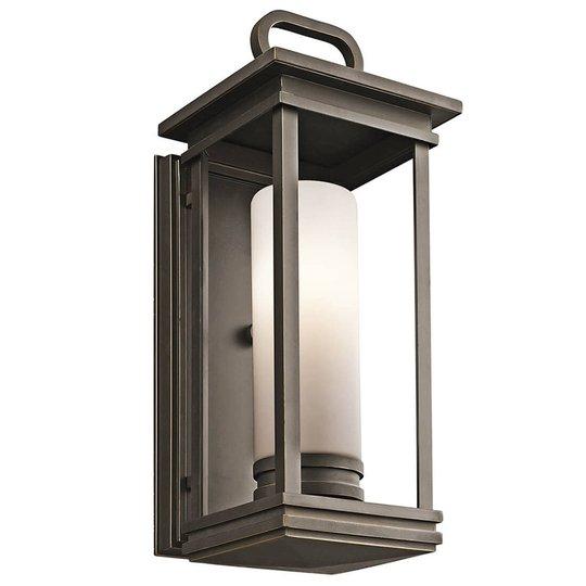 Vegglampe South Hope for utebruk - bredde 17,8 cm