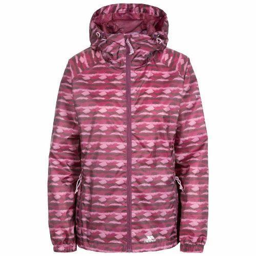 Trespass Women's Packaway Raincoat Jacket Various Colours Indulge - Fig Print M