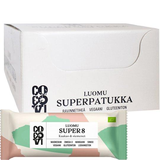 "Eko Hel Låda Kakao- & Fröbars ""Super8"" 16 x 40g - 75% rabatt"