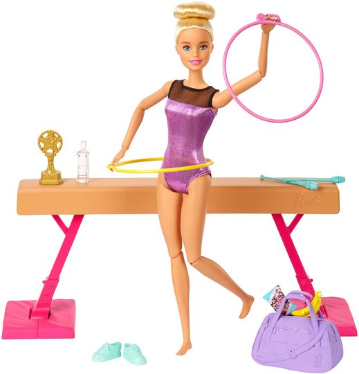 Barbie Gymnastics Lekesett Med Dukke