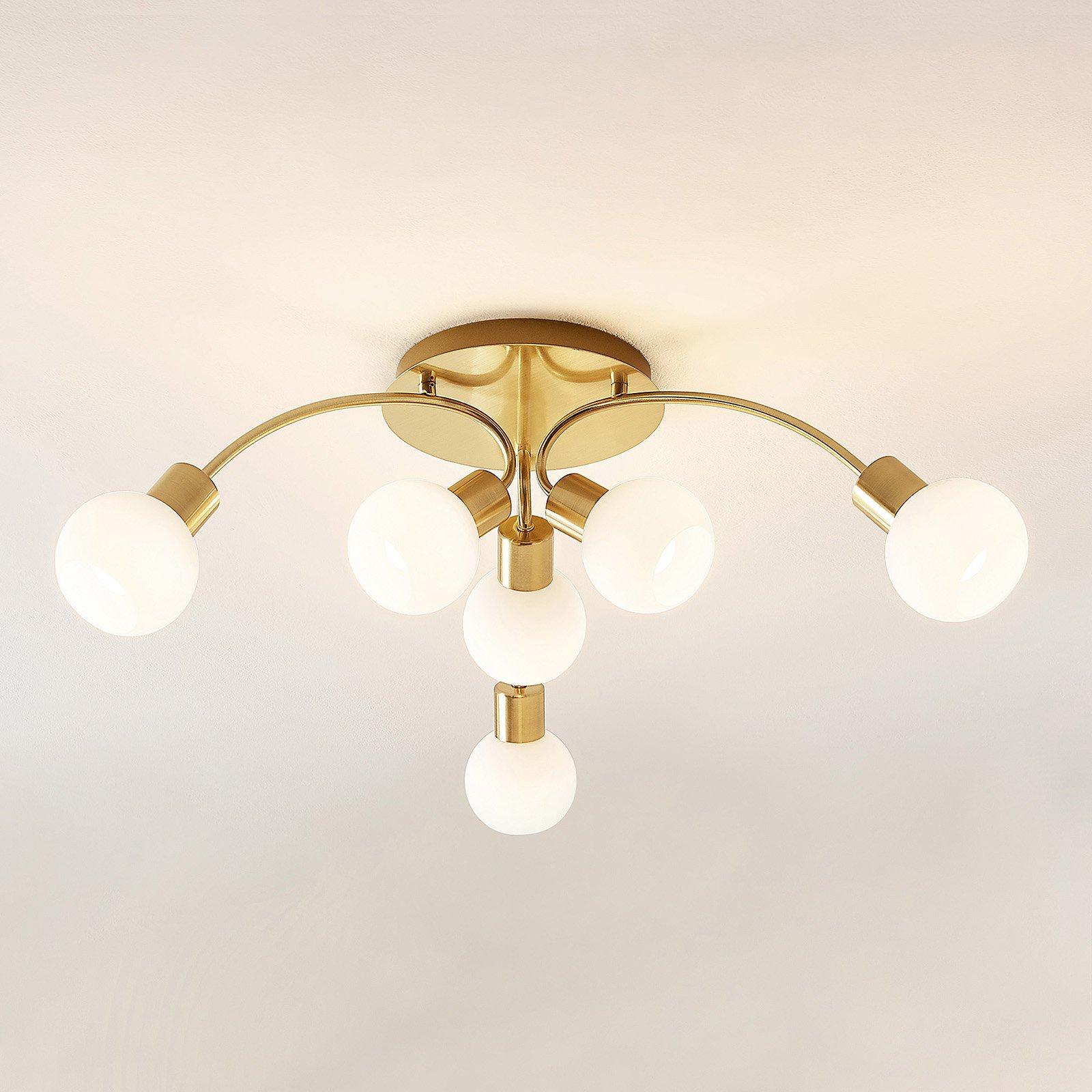 Lindby Tancerdi LED-taklampe i messing
