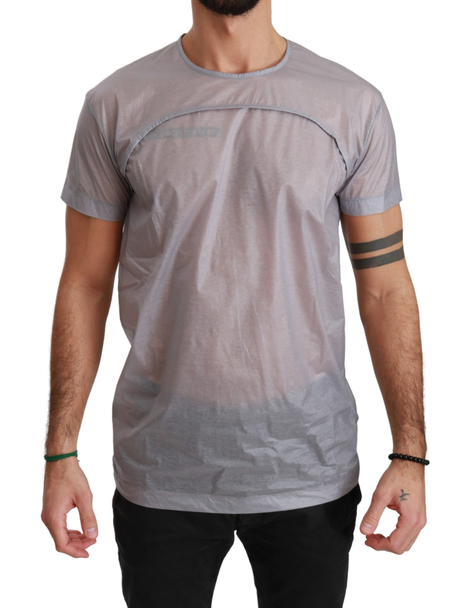 Dolce & Gabbana Men's See Through Roundneck T-Shirts Gray TSH4051 - L