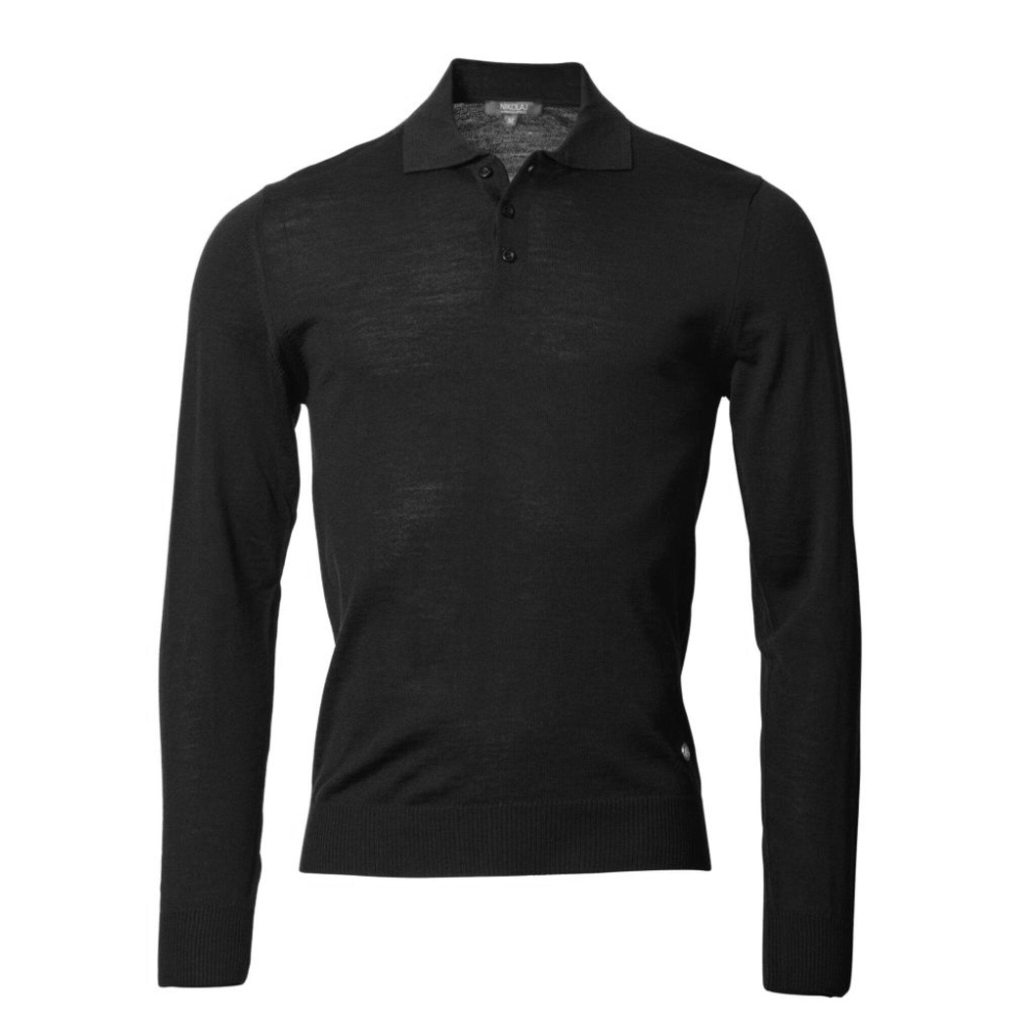 Felix Long Sleeve Knitted Polo Shirt