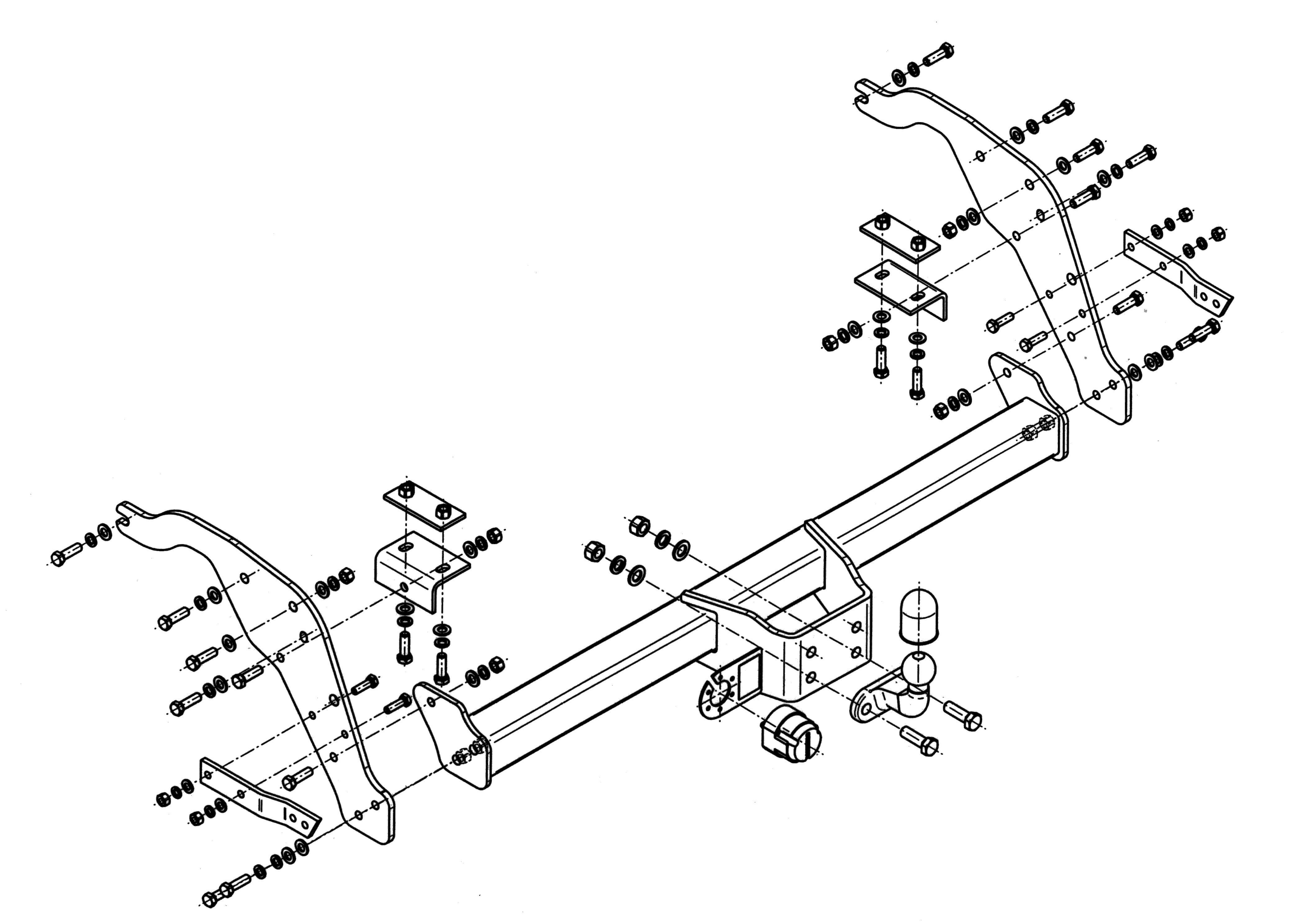 Vetokoukku STEINHOF STF-281 Ford Ranger '11-