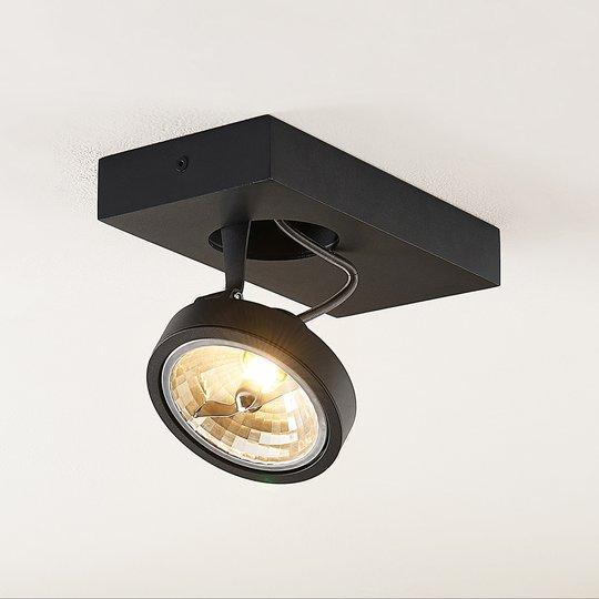 Arcchio Jorvin -kattospotti, 1-lamp., musta