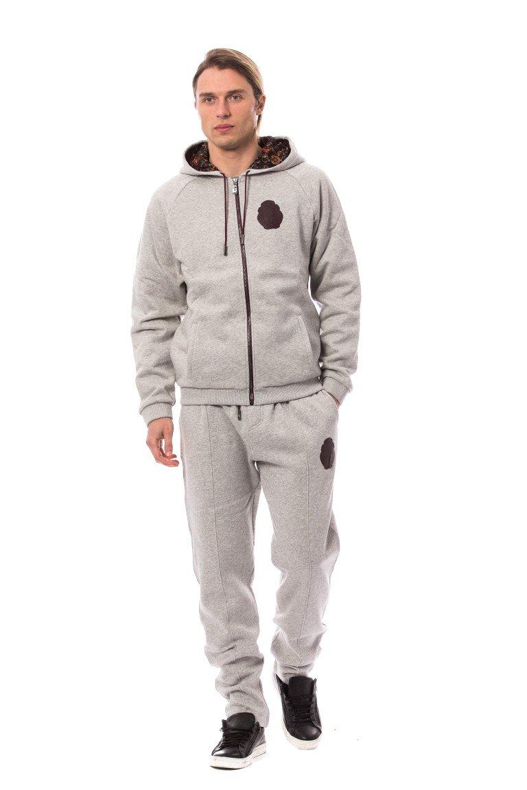 Billionaire Italian Couture Men's Hoodie Tracksuit Grey TSH1602 - L