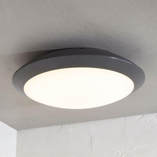 Utendørs LED-taklampe Naira, grå, uten sensor