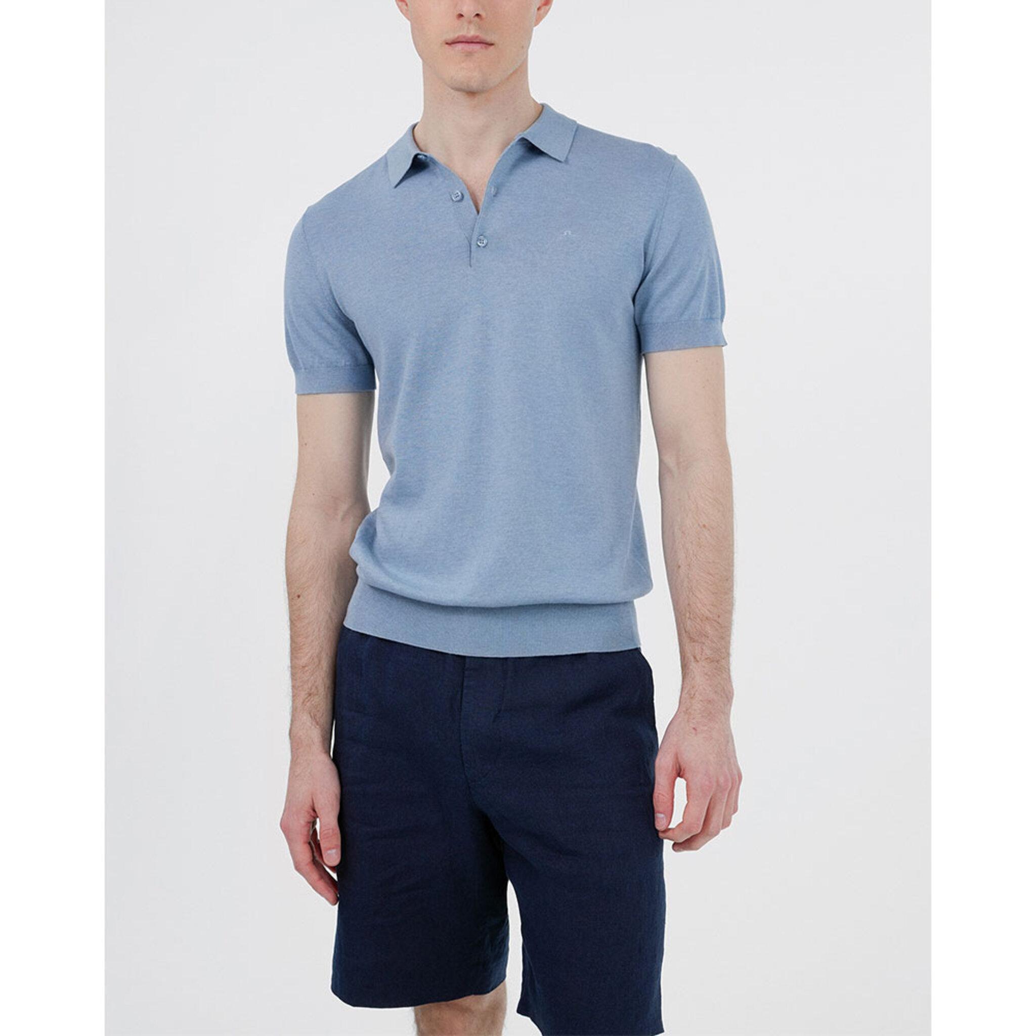 Ridge-Cotton Silk Polo Cardigan