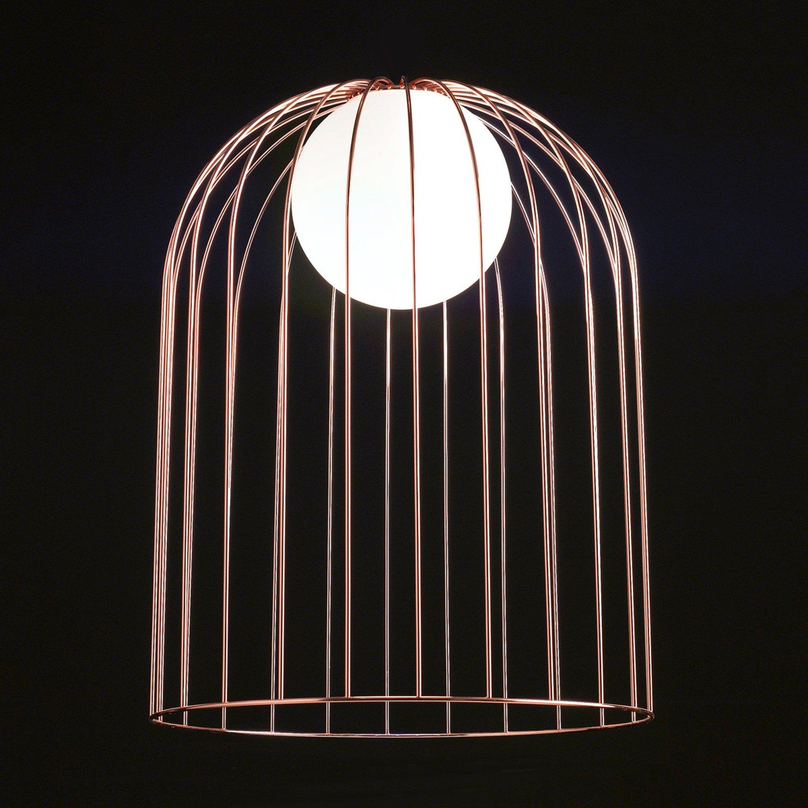 Kobberfarget metall-bordlampe Kluvi