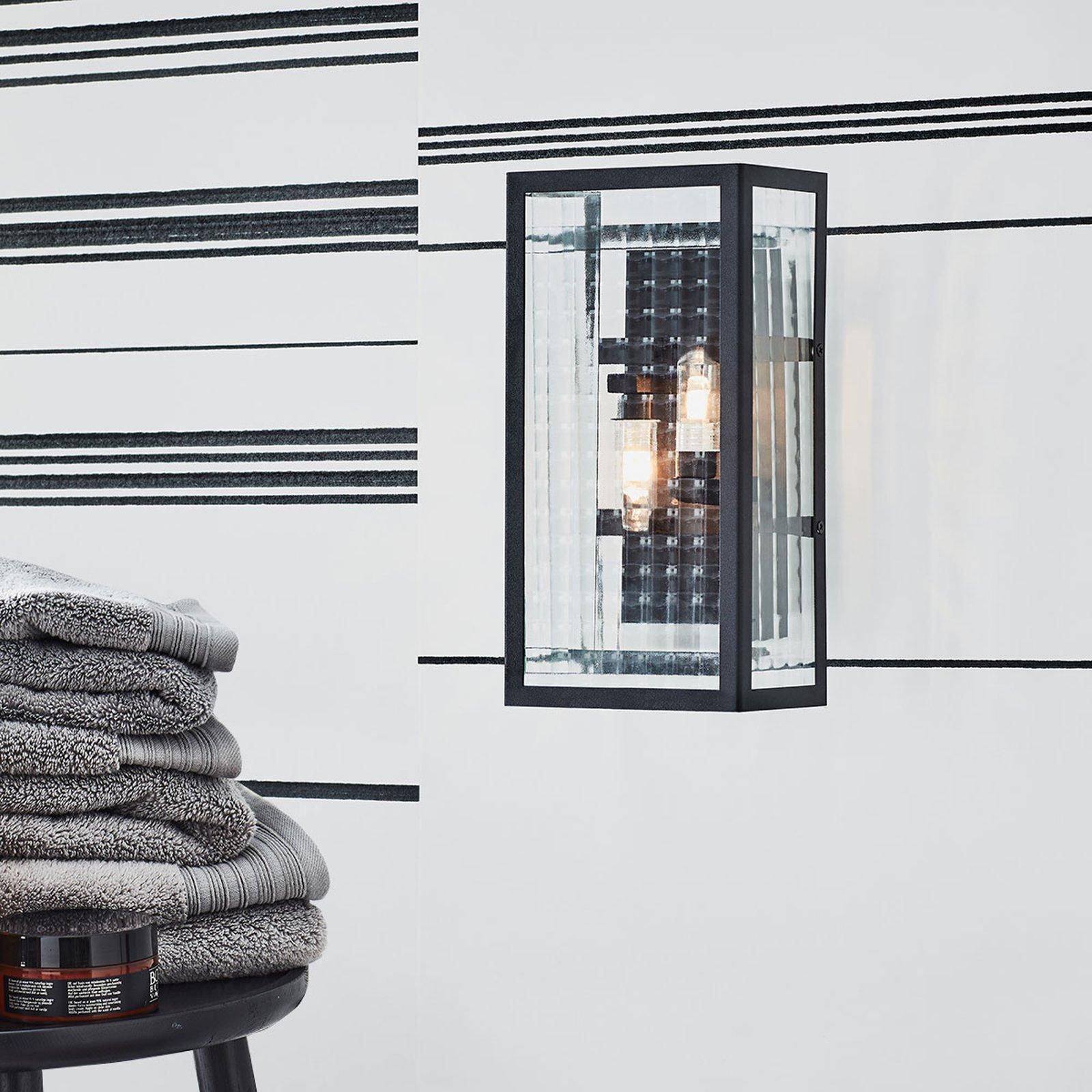 Fulham IP44 baderoms-vegglampe, svart
