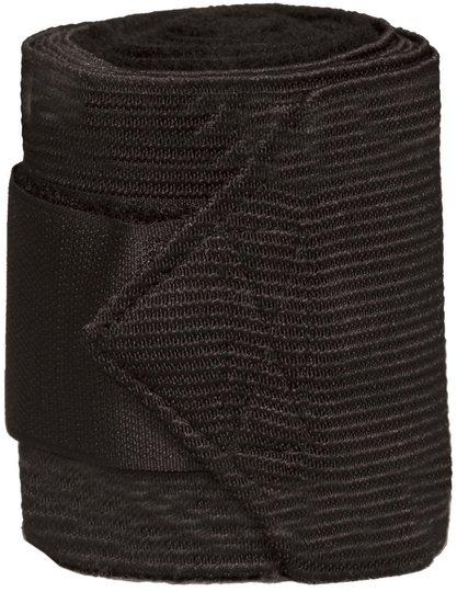 Jacson Ridebandasje Fleece og Elastisk tøystrikk 4-Pack, Svart