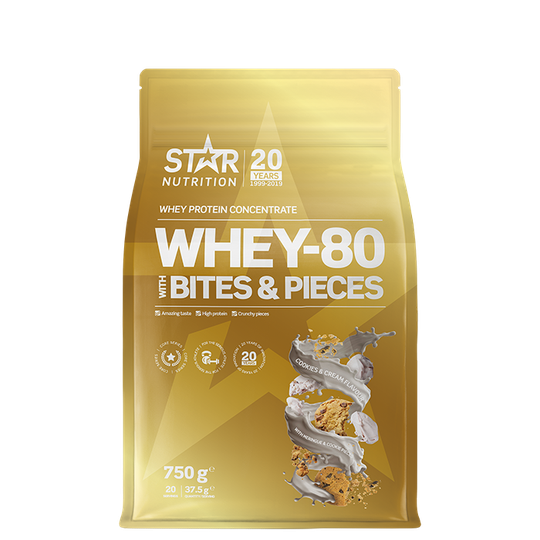 Whey-80, 750 g, Cookies and Cream with Meringue & Cookie Pieces