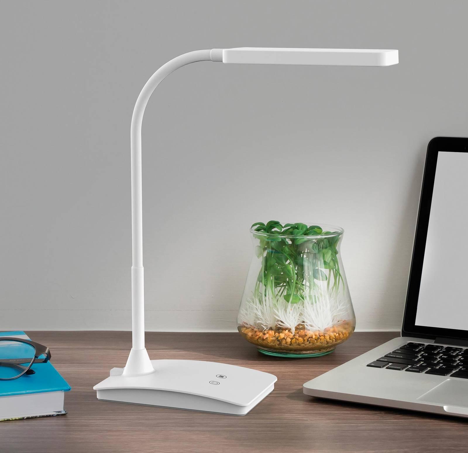 LED-työpöytälamppu MAULpearly colour vario