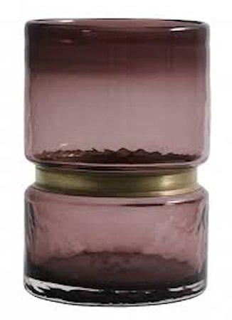 RING Vase/Lyslykt Glass Lilla