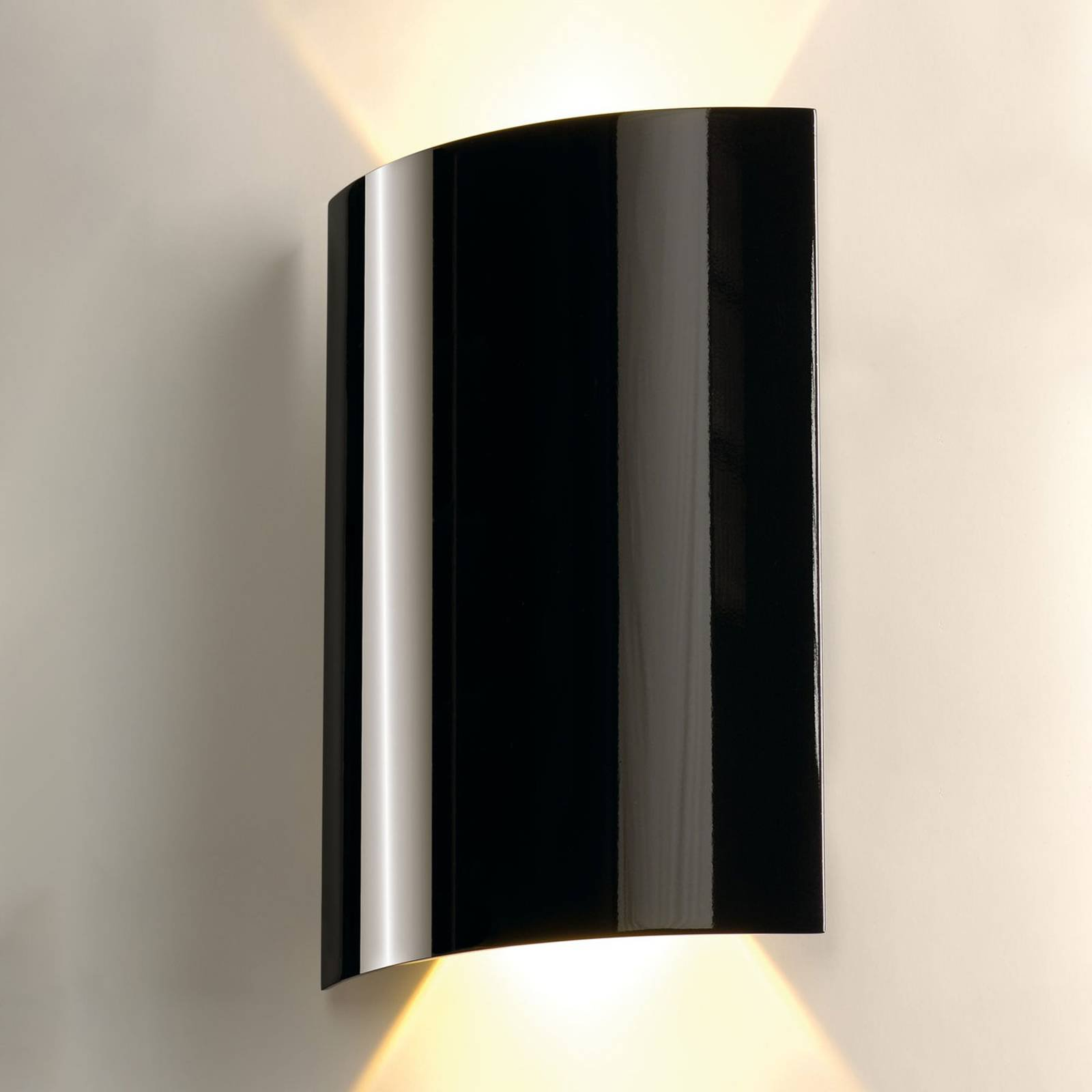 SLV Sail LED-vegglampe, 2 lyskilder, 30 cm, svart