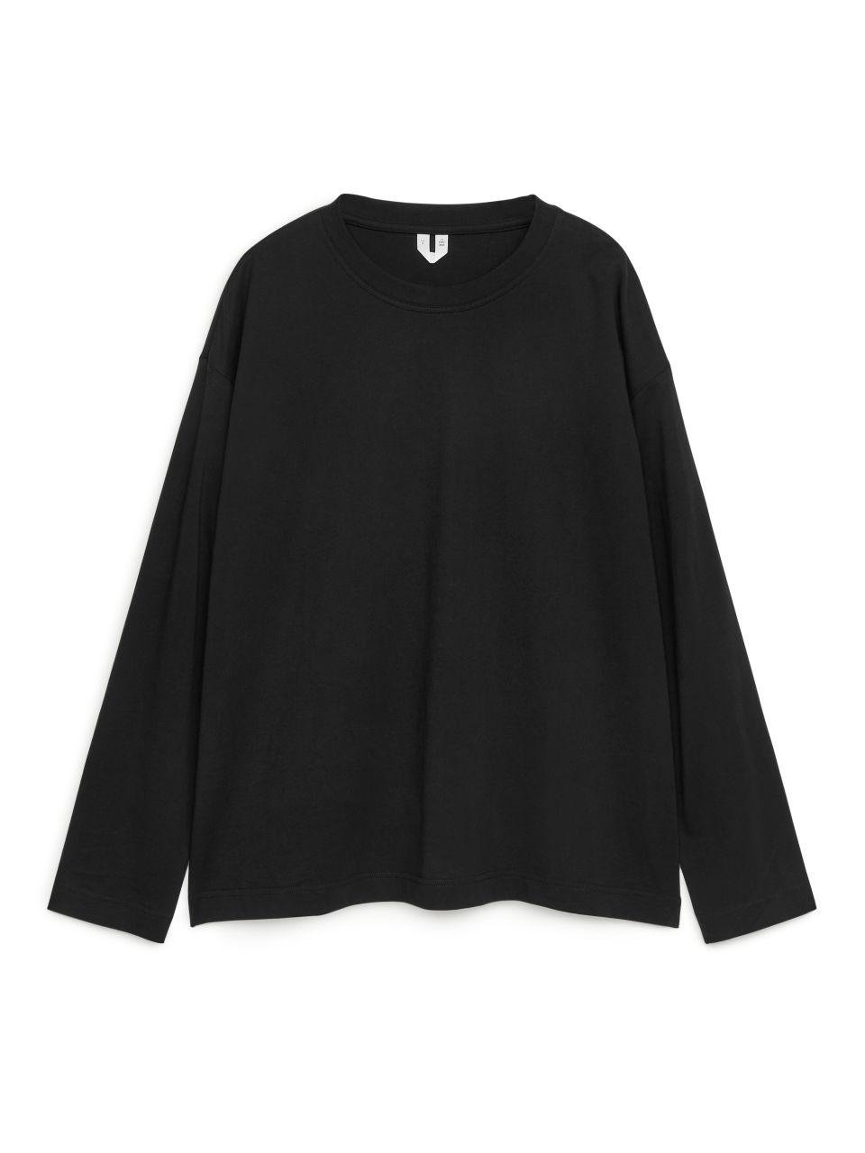 Oversized Pima Cotton T-shirt - Black