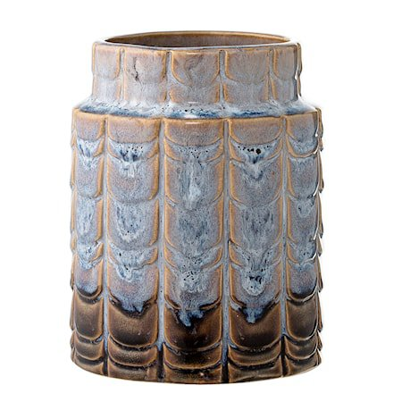 Vase Blå Steintøy 10x12,5cm