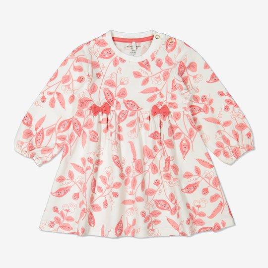 Kjole med trykk baby rosa