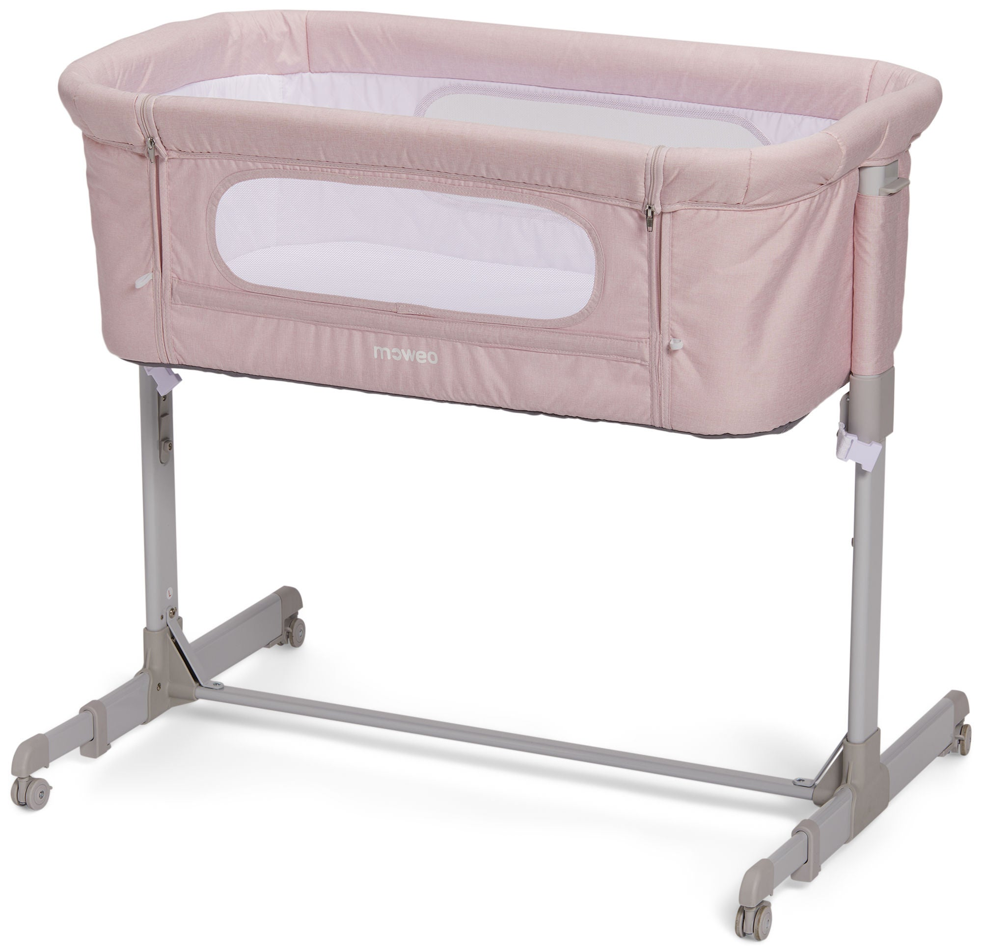 Moweo Bedside Crib, Vaaleanpunainen