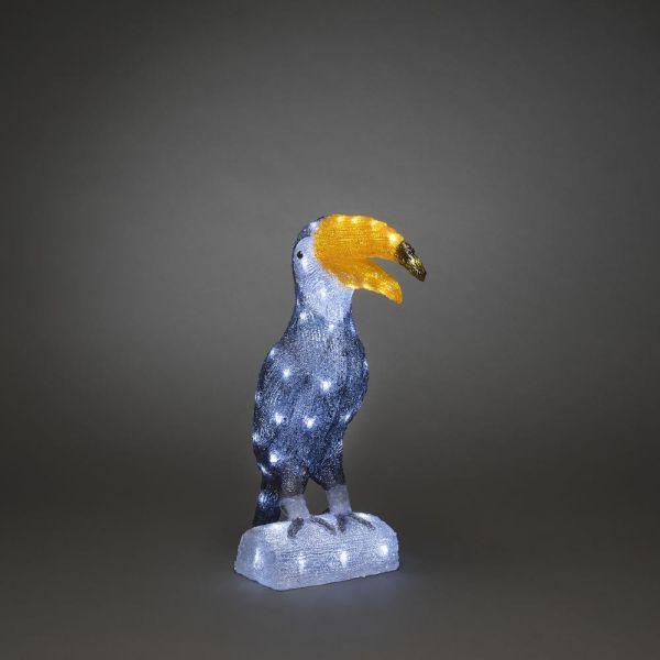 Konstsmide Tukanfågel Koristevalaisin 60 lamppua, 47 cm