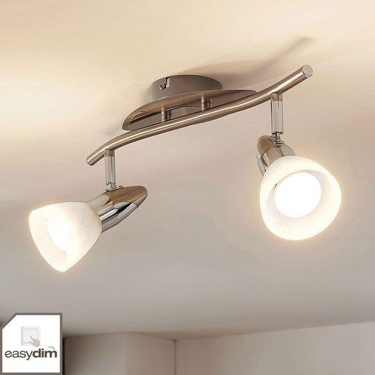 LED-kattovalaisin Cora, 2 easydim-lamput