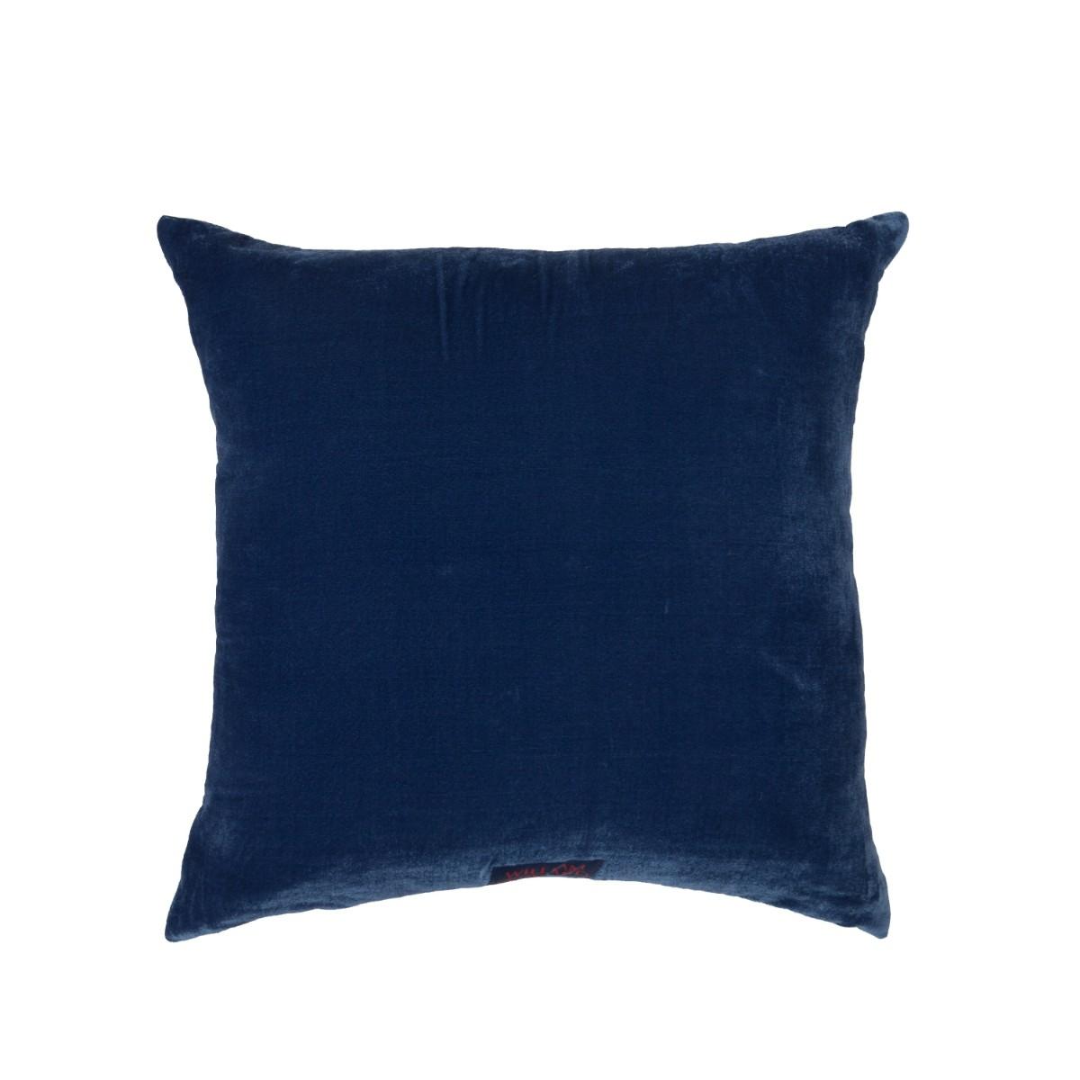 William Yeoward  Paddy Velvet Cushion French Navy