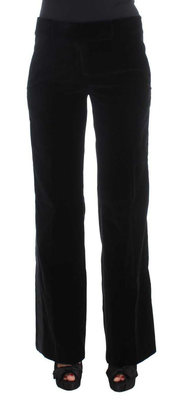 Ermanno Scervino Women's Striped Boot Cut Trouser Black SIG30397 - IT40|S
