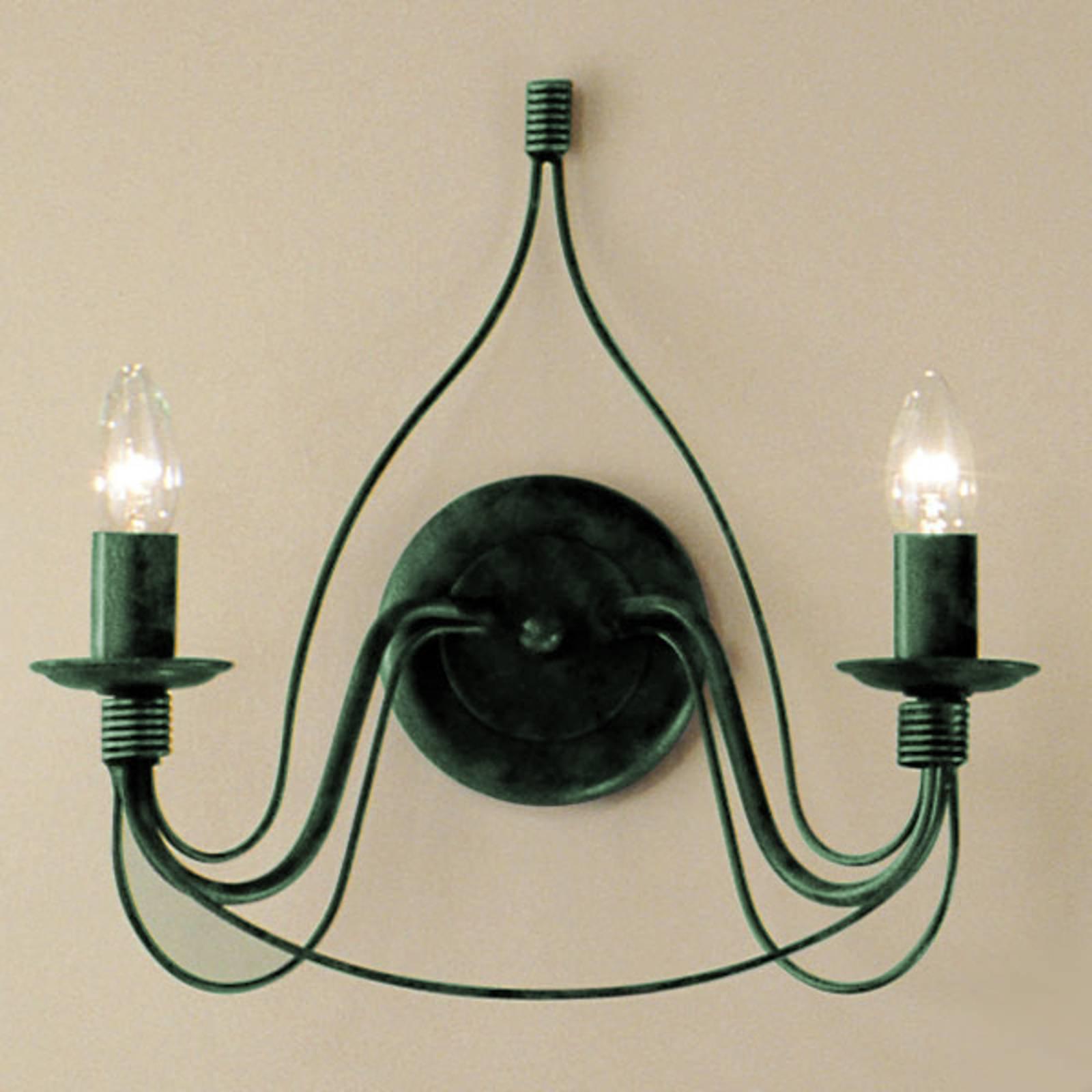 FILO vegglampe med to lys i antikk grønt