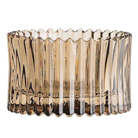 Lyslykt Glass Brun 7x4,5