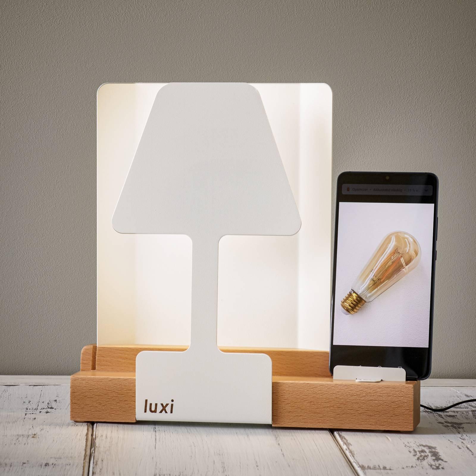 LED-pöytälamppu Luxi integroidulla latausasemalla