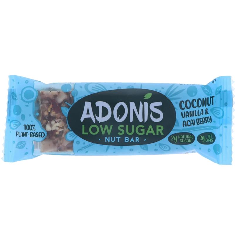 Energiapatukka Coconut, Vanilla & Acai Berry - 37% alennus