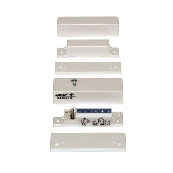 Alarmtech MC 640-5 Magnetkontakt 5 m kabel, hvit