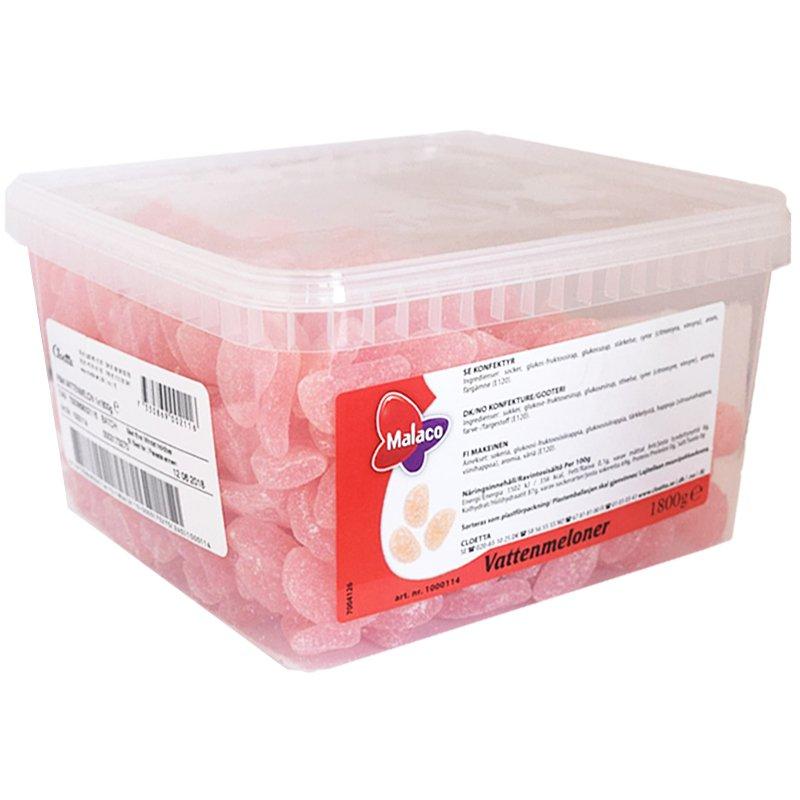 Hel Låda Godis Vattenmeloner 1,8kg - 71% rabatt