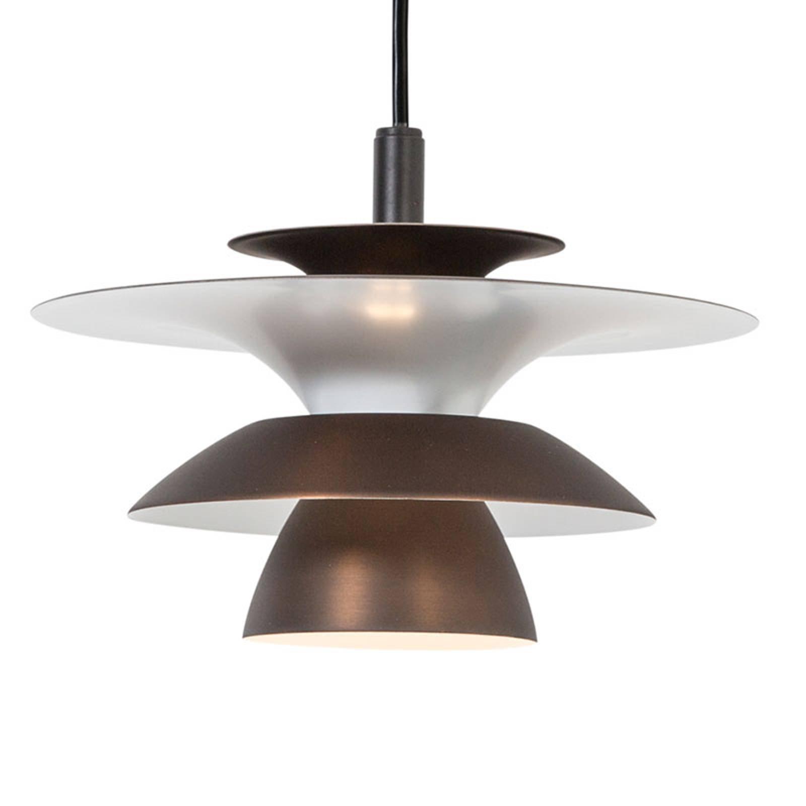 LED-pendellampe Picasso 1 lyskilde Ø 18cm rustbrun